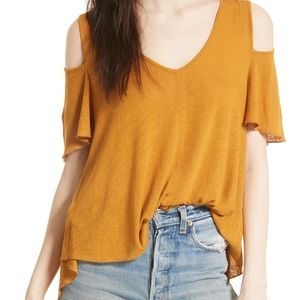 Free People Bittersweet Cold Shoulder Top - XS